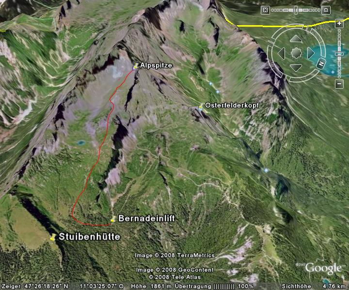 Google-Earth: Alpspitze