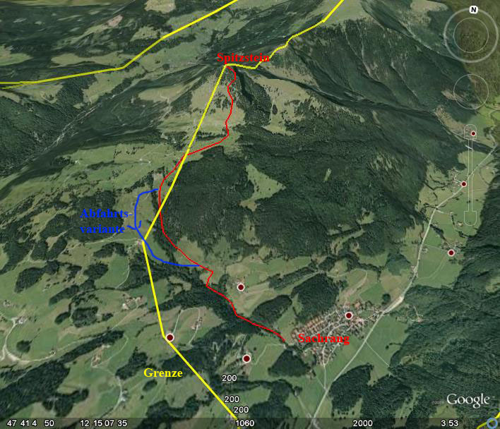 Google-Earth: Spitzstein