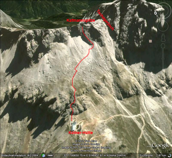 Google Earth: Kafmannspitze